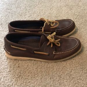 Sperry Topsiders. Brown leather 7.5
